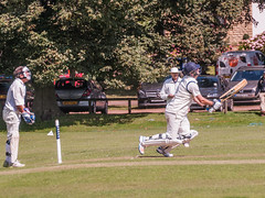 ends badly (tramsteer) Tags: tramsteer portisheadcricketclub batter cricket pitch ball explore