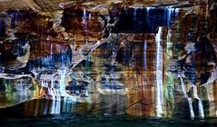 Abstraction in Nature (klauslang99) Tags: klauslang nature naturalworld northamerica national pictured rocks lakeshore lake superior michigan abstraction wall mineral streaks