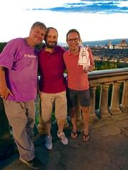 Florence sunset (travelontheside) Tags: italy italia tuscany toscana florence florenceitaly firenze piazzalemichelangelo sunset oltrarno