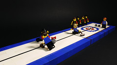 Summertime... Curling? (MCLegoboy) Tags: lego moc myowncreation 2017mocergames mocercup round2 olympian olympics curling sheet stone hogline hack house sweeper teamusa snot studsnotontop competition entry
