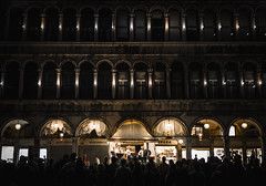 Evenings at San Marco (NOAC_) Tags: travel trip trips traveling tourism tips piazzasanmarco stmarkssquare venice venezia italy italia veneto world global beautiful night dusk dawn nocturnal music band classical pentaxk5iis sigma28mmf18 dark light lights street scene photography