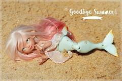 ☼ Goodbye Summer ♥ (Shimiro Kestrel) Tags: bjd doll cute kawaii mermaid pastel summer siren tiny tinybjd bjdphotography bjdcustom bjdportrait depthsdolls deilf pastelgirl pastelhair dollphotography fullcusto toyphotography toy
