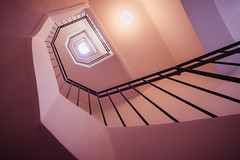 The shades of... pink (--StadtKind--) Tags: spiral germany bavaria munich vollformat sonyfe16354zaoss sonyilce7m2 alphaddicted sonyalpha wideangle architektur architecture architecturephotography symmetry geometry treppe treppenhaus stairs staircase stadtkind