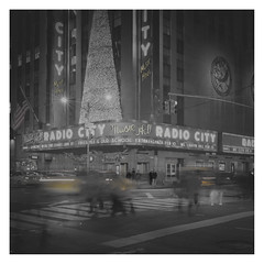 Radio City (Vesa Pihanurmi) Tags: newyorkcity nyc manhattan midtown 6thavenue 50thstreet longexposure streetphotography metaphysics metaphysical night cityscape radiocity radiocitymusichall street