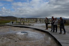 40082385 (wolfgangkaehler) Tags: 2017 europe european iceland icelandic island highlands centraliceland hveravellir hveravellirhotspringsarea volcanic volcanicactivity geothermalarea fumaroles steam people tourist tourism walking boardwalk