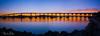 Sunrise Over the Bridge (hazeleyes0710) Tags: coronadobridge rockformation sunrise sandiego reflection waterreflection bridge panorama