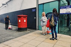 Manchester 073 (Peter.Bartlett) Tags: manchester street photography urban iphone7 mobilephone cellphone vsco colour candid people women postbox piccadilly station sign