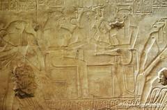 Seti I with gods and goddesses (konde) Tags: setii 19thdynasty newkingdom templeofsetii abydos relief art goddess wadjet nekhbet thot horus ancientegypt sematawy treasure chapel