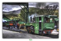 THE SAME ROUTINE ALONG THE WAY (régisa) Tags: llanberis station vapour vapor vapeur locomotive tank engine cymru wales galles gwynedd worker omd orchestralmanoeuvresinthedark