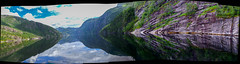 Fjord landscape (Angelo Petrozza) Tags: imagecomposer merge unione fiordi fjord norway norvegia acqua sea reflection riflesso landscape panoramica bergen scandinavia trips viaggio pentaxk70 angelopetrozza fjordcruise