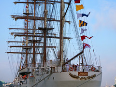 BAP Unión (STEHOUWER AND RECIO) Tags: bapunión union sailing ship peru navy marine masts people beautiful beauty boat barque rotterdam salute saluting flag flags vlag vlaggen volkslied vessel latinamerica southamerica viermaster sailor sail netherlands nederland holland