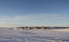 Arctic community of Cambridge Bay in the fall with snow on the ground and blue skies (Blue Tale) Tags: cambridgebay nunavut isolated arctic north polar communityinuit remote travel landscape blue white outdoors nature sunreise sky community northern arcticlandscape isolatedcommunity houses snow cold october cambridge village canada town bay winter snowscape tourism kitikmeot homes buildings ice sea farnorth native land higharctic arcticcommunity ikaluktutiak winterscene winterlandscape background nunavutcanada inuitcommunity inuit