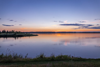 Sonnenuntergang am Cospudener See