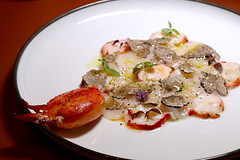 Lobster and Scallop Carpaccio (Camemberu) Tags: labrasserie fullertonbayhotel french restaurant food fullerton