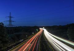Devon Expressway (Teignstu) Tags: heathfield newtonabbot devon a38 longexposure lighttrail