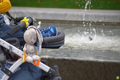 Funny bunny (petrOlly) Tags: europe europa poland polska polen pomorze tricity trójmiasto tricityarea sopot city toy object objects water fountain