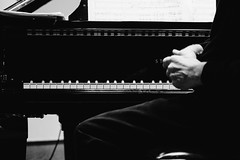and now ... (Thomas Listl) Tags: thomaslistl blackandwhite noiretblanc biancoenegro piano grandpiano music musician dark keys hands concert steinway