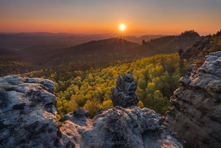 saxon switzerland sunrise