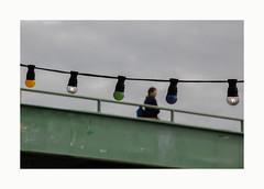 Melencolia (hélène chantemerle) Tags: pont gris nuages femme lumigons bridge grey clouds woman lamps