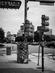 Austin, Tx (guido.elting) Tags: street sign black white sticker label trafficlight austin