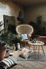 The Tribal Trend - r (seewhatyoumean) Tags: the tribal trend rattan furniture woven cushions potted palms