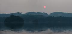 Haze (OneEighteen) Tags: sailing pacificnorthwest britishcolumbia landscape haze smoke red sun
