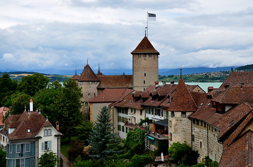 Murten Old Town and Castle, from top of the wall
