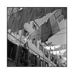 flags • venice, italy • 2016 (lem's) Tags: minolta autocord flags sheets laundry draps drapeaux lessive street rue venezia venise venice italy italie italia
