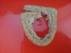 Don't You Eat BREAD Crust? (esala.kaluperuma) Tags: macromondays bread 7dwf art abstract red