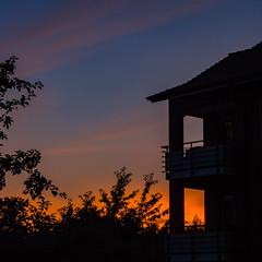 Abendhimmel (p.schmal) Tags: olympuspenepm2 hamburg farmsenberne sonnenuntergang sundown