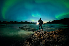 Light in the dark (Risto_Les) Tags: northernlights auroras lapland landscape nightscape