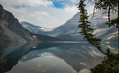 Reflections of Grandeur (D.Spence Photography) Tags: alberta canada kootenay mountains nationalpark nature park wilderness beautiful beauty picturesque scenic water lake bowlake banffnationalpark glacier waterfall forest trees evergreentrees reflection landscape mountain