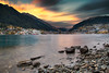 Stunning Queenstown Sunset || SOUTH ISLAND || NZ (rhyspope) Tags: nz new zealand queenstown sunrise sunset le long expose color colour water bay lake wakatipu south island mountians rocks evening rhys pope rhyspope canon 5d mkii autumn fall forest trees city town movement motion