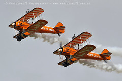 1C5A3349 Wingwalkers (photozone72) Tags: scampton airshows aircraft airshow aviation canon canon7dmk2 canon100400f4556lii 7dmk2 breitlingwingwalkers breitling stearman boeing biplane props wingwalkers