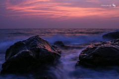 Seascape (hisalman) Tags: sunset seascape seashore longexposure sky clouds