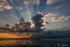 Sun rays (BraCom (Bram)) Tags: bracom cloud wolk sunrays zonnestralen reflection spiegeling silhouet silhouette evening sunset avond zonsondergang lake meer sky showers buien dirksland grevelingenmeer slikkenvanflakkee goereeoverflakkee zuidholland nederland southholland netherlands holland bramvanbroekhoven nl