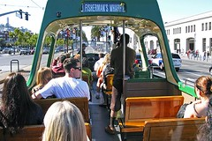 Trolley to Fisherman's Wharf (AntyDiluvian) Tags: sanfrancisco california embarcadero trolley ftrolley fishermanswharf telegraphhill coittower
