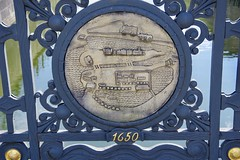 Plaque showing the History of the Spreekanal (Dave Hamster) Tags: berlin riverspree river spree schleusenbridge schleusen bridge spreekanal plaque