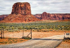Mitten Butte on Navajo Land in the Monument Valley Navajo Tribal Park, AZ (PhotosToArtByMike) Tags: monumentvalleynavajotribalpark navajonation mittenbutte butte indiantribe arizona az redsand desert sandstonebuttes mittensbuttes arizonautahborder filminglocation westernmovies