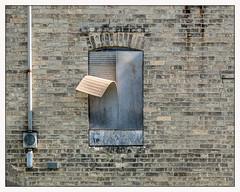 peeling (Rick Olsen) Tags: brick minimal window simple mundane