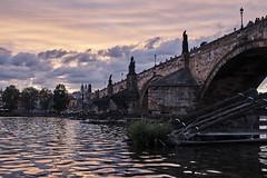 Charles Bridge (Claudio IT) Tags: charles bridge ponte carlo praha prague praga fiume river tramonto sunset riflessii reflections sony sonya7m2 1635f4z zeiss vltava czech republic
