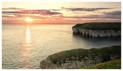 East coast sunrise (jamiekennedy644) Tags: eastcoast sunrise longexposure sea cliffs canong3x flamborough northlanding peeping sun