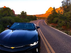 (Valen Kay Photography Mark A Snyder) Tags: bestcarpics mountains desert sunset iphone6s convertible exoticcars sportscars wallpaper chevycommercial sedonaarizona iphone6 chevycamero2018