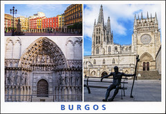 postcard - from dannyozzy, Switzerland 1 (Jassy-50) Tags: postcard postcrossing unescoworldheritagesite unescoworldheritage unesco worldheritagesite worldheritage whs spain burgos burgoscathedral cathedral church multiview