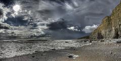 West country girl (pauldunn52) Tags: cwm mawr cliffs cave witch splint wales glamorgan heritage coast sea waves storm clouds sun