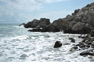 pobřeží u Čanj v Černé Hoře