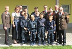 Die Feuerwehrjugend bedankte sich bei Frau Bundesrätin Angela Stöckl-Wolkerstorfer