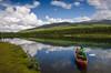 Out for a float on the Sjoa. Heidal Norway. (Ben McKeown .thebigbluetree.com) Tags: norway scandanavia sjoa canoe
