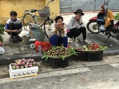 A challenge to taste_Hanoi_IMG_2131 (AchillWandering) Tags: street local women ladies portrait vietnam hanoi people fruits girls challenge smile pretty