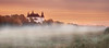 Old castle in morning. (BirgittaSjostedt_away until 24 February) Tags: landscape architcture building old ancient haze fog morning beauty magic birgittasjostedt mist grass sunset sky tree magicunicornverybest ie